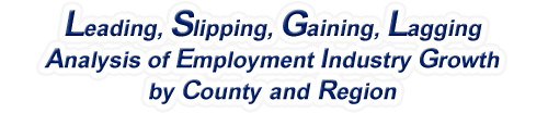 Mississippi - LSGL Analysis of Employment Industry Growth by Selected Region, 1969-2016